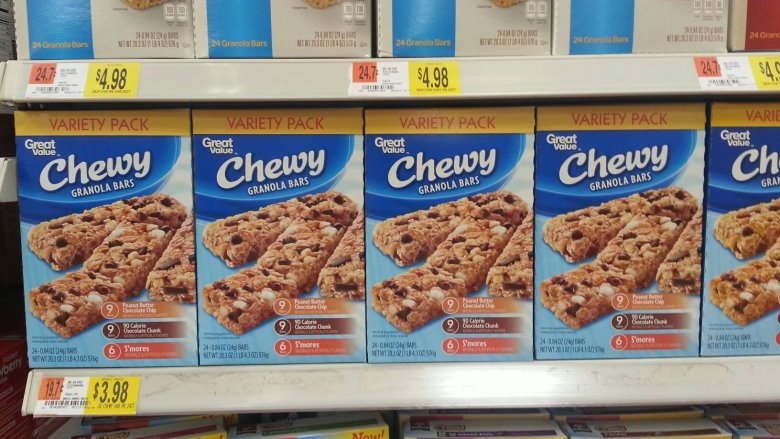 Great Value granola bars from Walmart