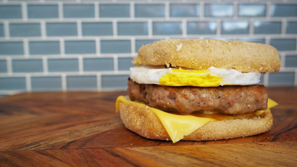 5-ingredient copycat McDonald's Sausage McMuffin with Egg recipe