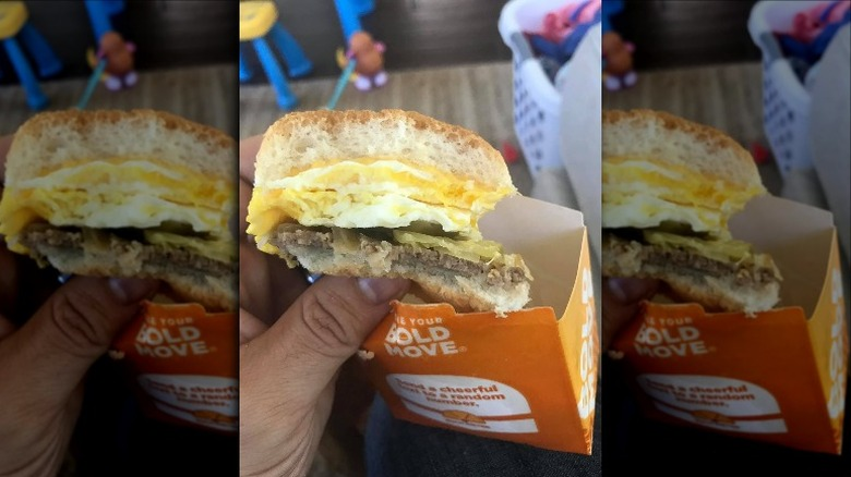 Original Slider with Egg and Cheese from White Castle