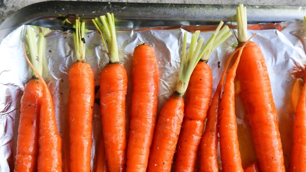 carrots ready for the oven