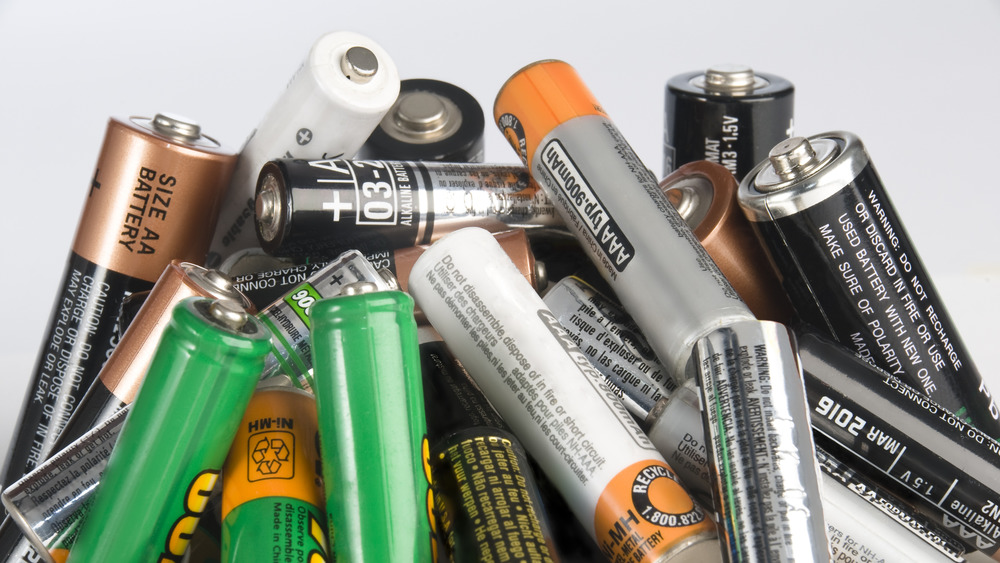Bunch of batteries from dollar store