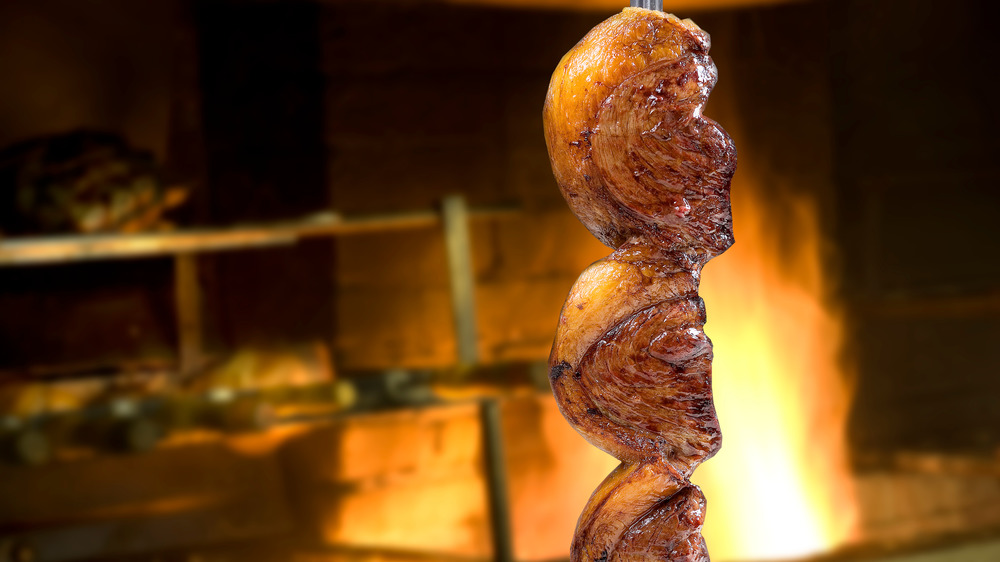 Picanha by a fire