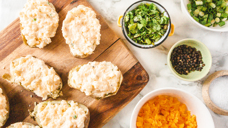 stuffing your twice baked potatoes