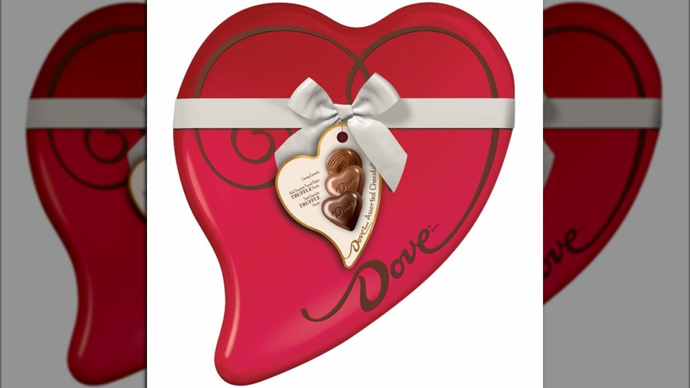 Dove chocolate heart for Valentine's Day
