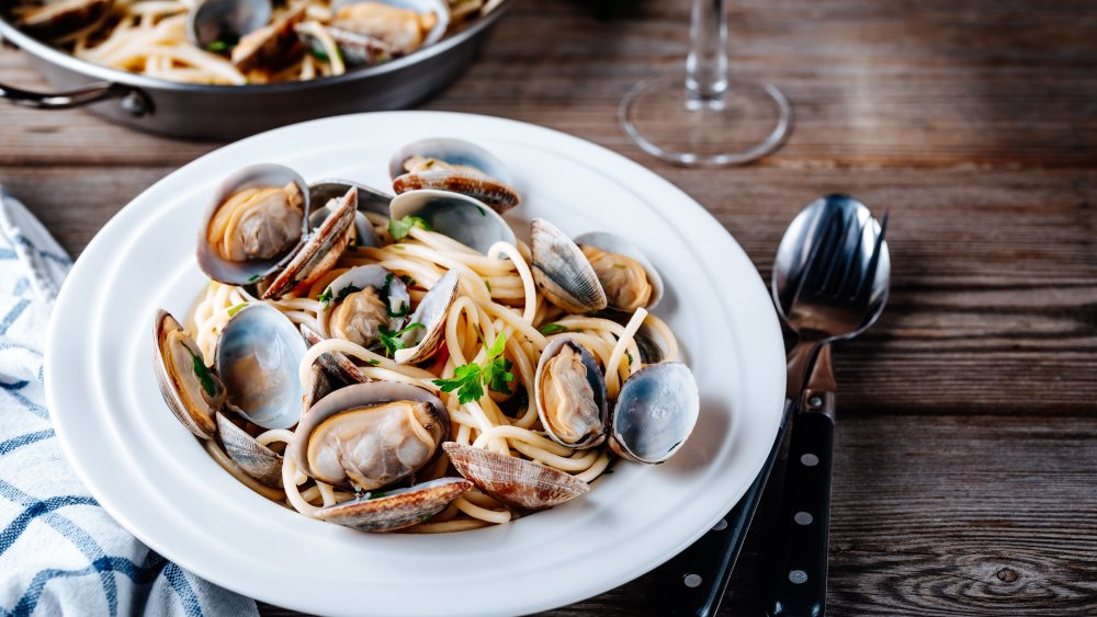 You should always soak clams before eating them. Here's why